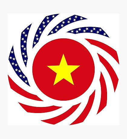 Vietnamese American Multinational Patriot Flag Series Photographic Print