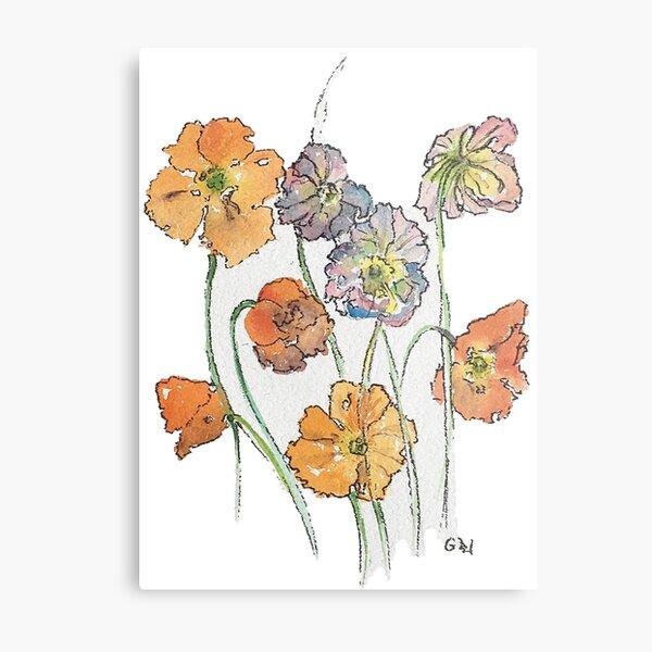 Cute Cut Flowers Metal Print