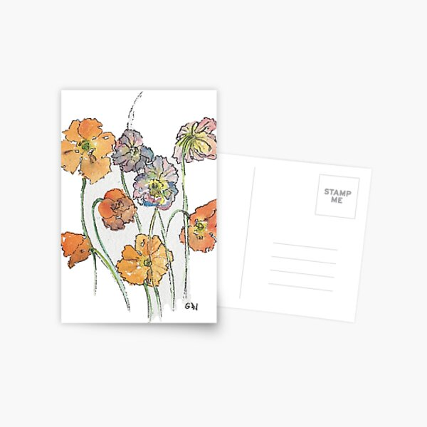 Cute Cut Flowers Postcard