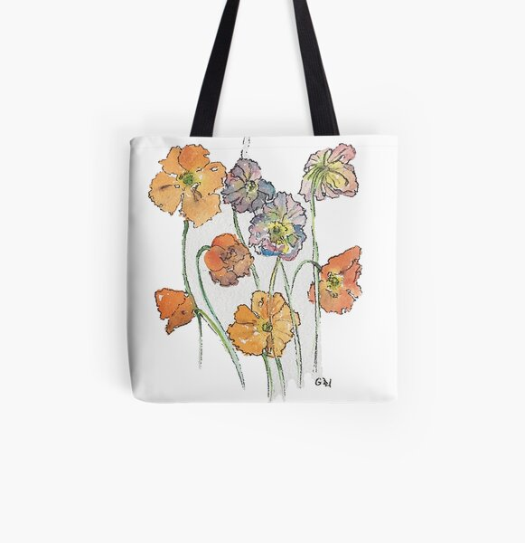 Cute Cut Flowers All Over Print Tote Bag