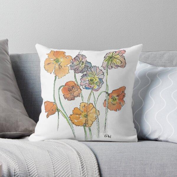Cute Cut Flowers Throw Pillow