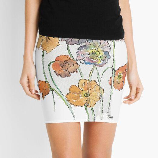 Cute Cut Flowers Mini Skirt