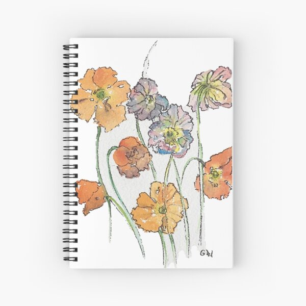 Cute Cut Flowers Spiral Notebook