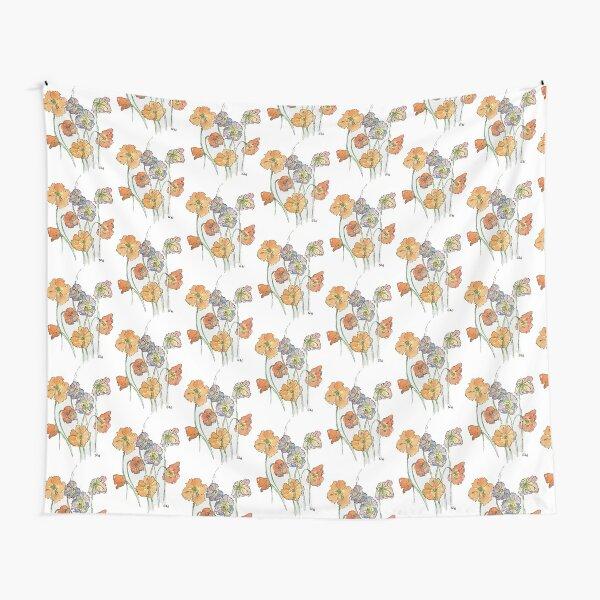 Cute Cut Flowers Tapestry