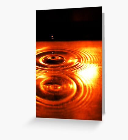 Orange Drops Greeting Card