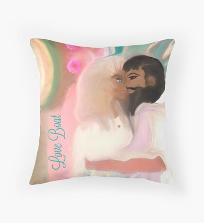 Love Boat  -A Couple In Love Throw Pillow