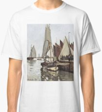 Claude Monet - Sailboat At Honfleur 1866 Classic T-Shirt
