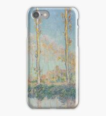 Claude Monet - Poplars 1891 iPhone Case/Skin