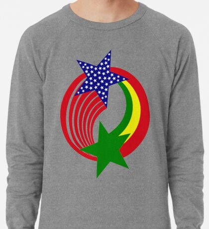 Senegalese American Multinational Patriot Flag Series Lightweight Sweatshirt