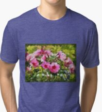Bunch of blooming flowers Tri-blend T-Shirt