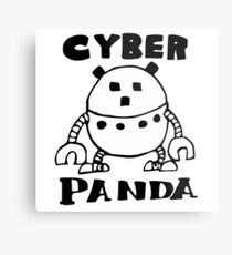 Cyber Danger Panda  Metal Print