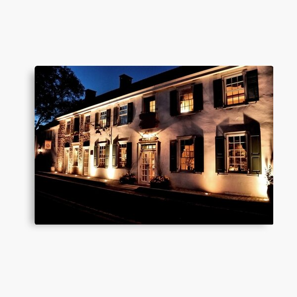 An Evening at the Black Bass Hotel Canvas Print