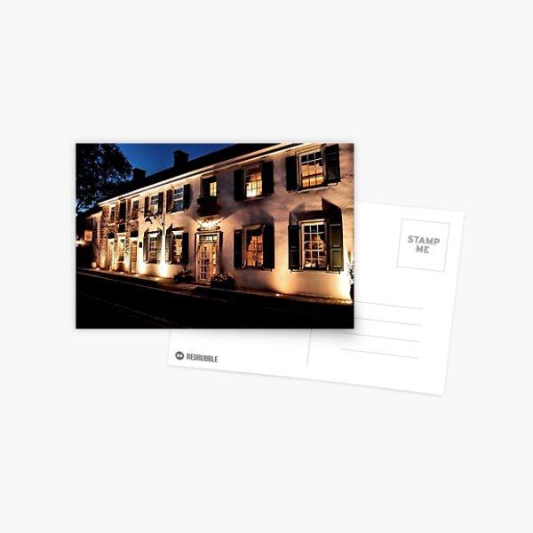An Evening at the Black Bass Hotel Postcard
