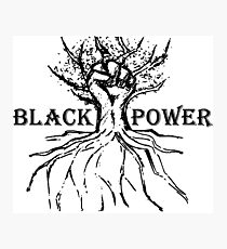 Black Power Rooted Fist Tree Photographic Print
