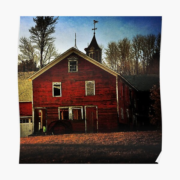 Barn in the Late Afternoon Sun Poster