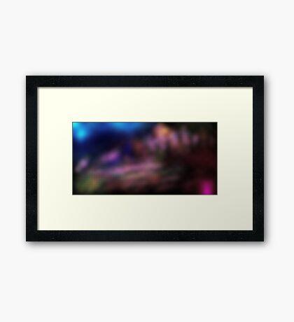 Facets Framed Print