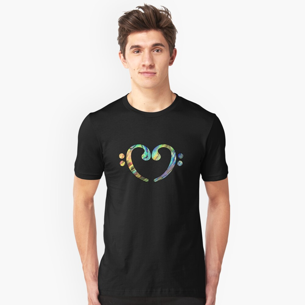 Music Notes ABL Heart Unisex T-Shirt Front