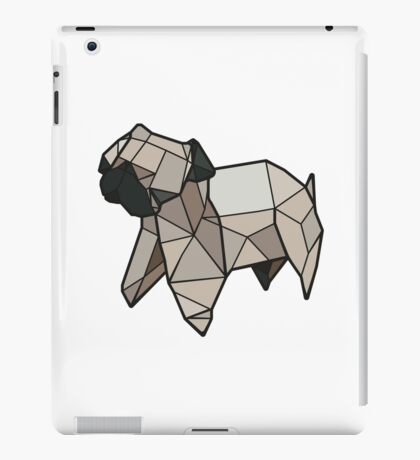 Origami Pug iPad Case/Skin