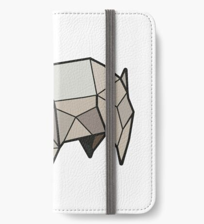 Origami Pug iPhone Wallet