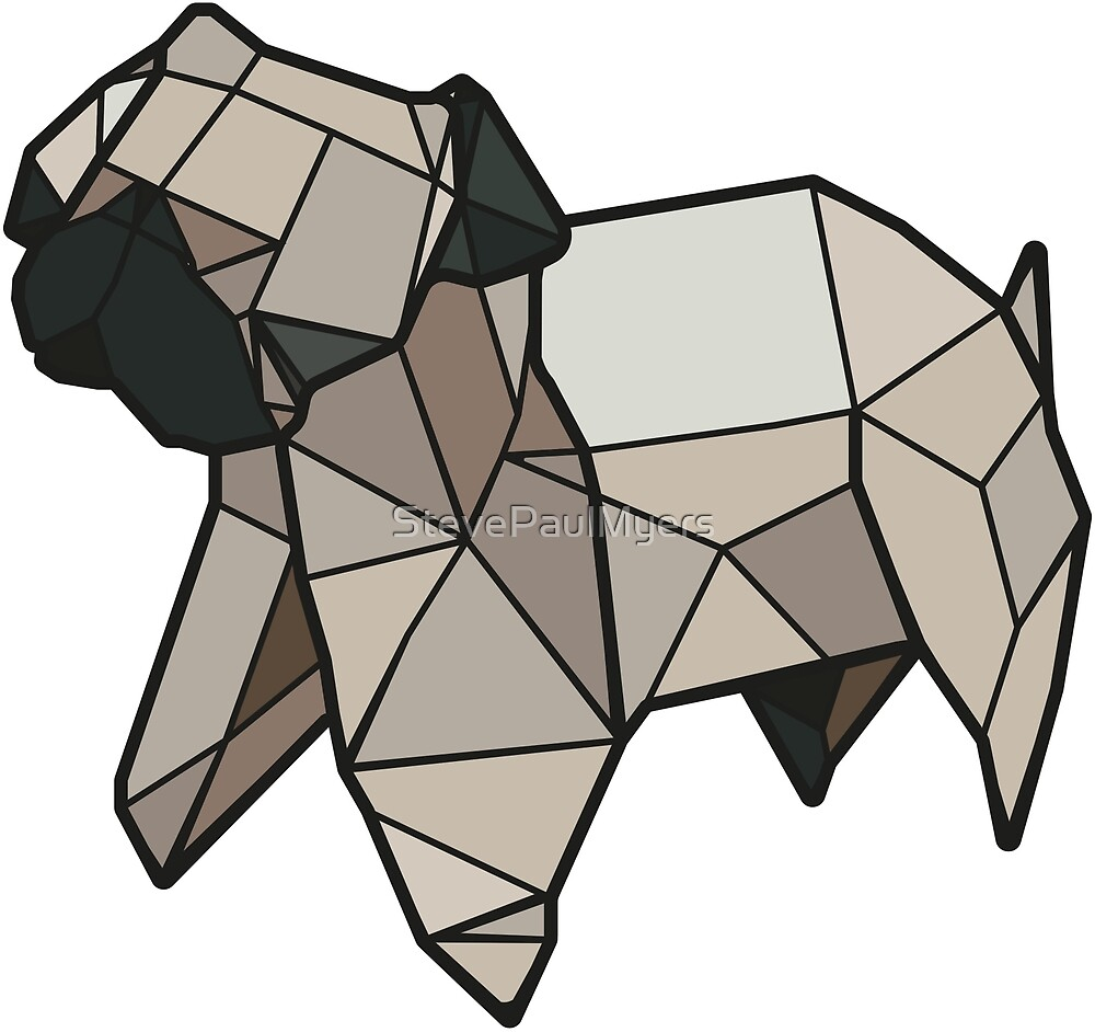 Origami Pug by StevePaulMyers