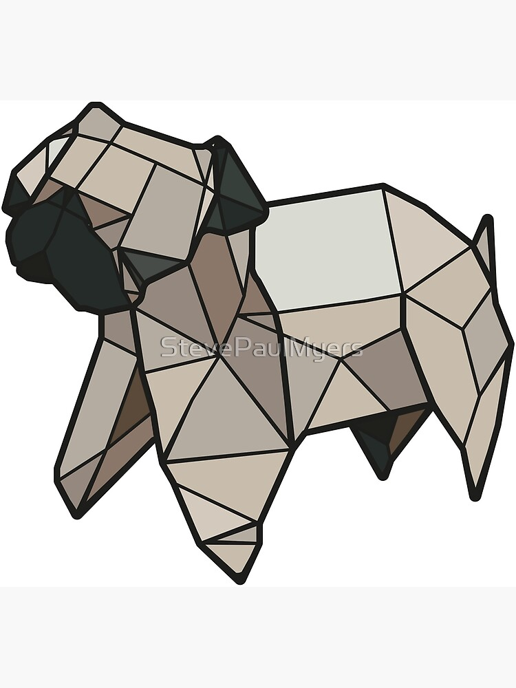 Origami Pug by StevePaulMyers