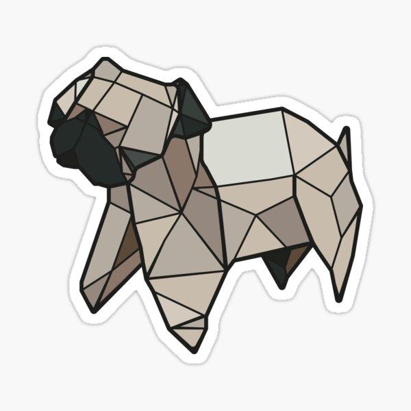 Origami Pug Sticker