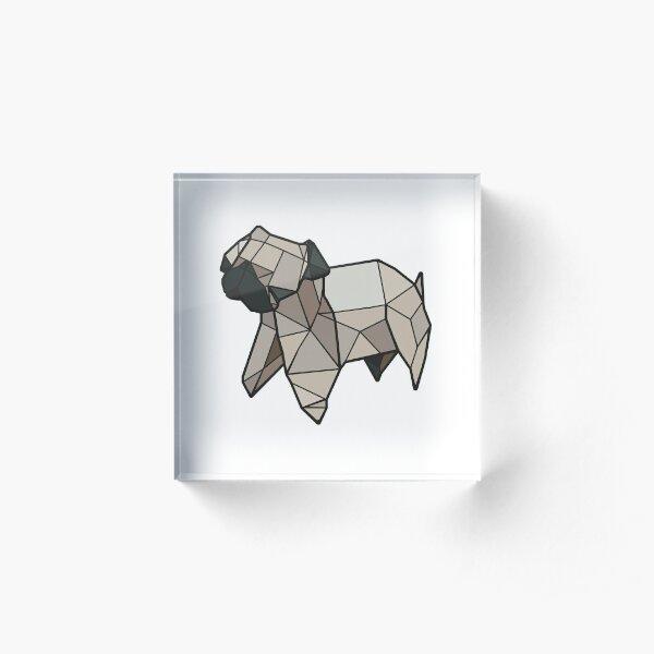 Origami Pug Acrylic Block