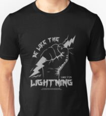 Be Like The LIGHTNING (Luke 17:24) gray T-Shirt