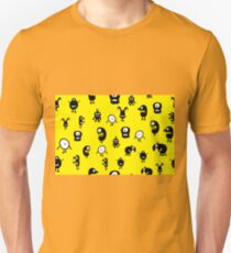 Funny and crazy cartoon monsters seamless pattern Unisex T-Shirt