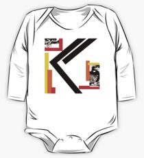 Kano Fire Contemporary Norse Rune Red White Black Orange One Piece - Long Sleeve