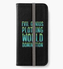 Evil Genius Plotting World Domination iPhone Wallet/Case/Skin