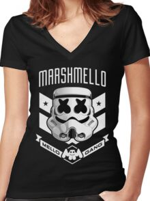Mellogang Women's Fitted V-Neck T-Shirt