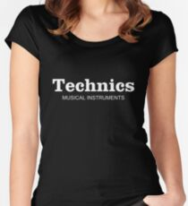 Technics Musical Instruments Women's Fitted Scoop T-Shirt