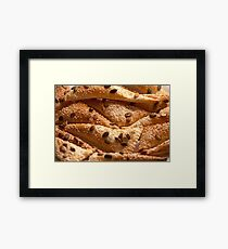 flaky  Triangles of puff pastry  Framed Print