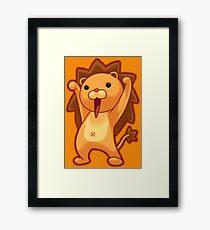 Chibi Lion Framed Print