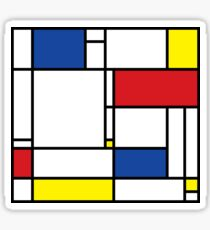 Mondrian Minimalist De Stijl Modern Art Sticker