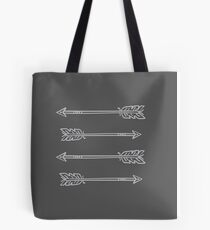 4 Grey Hipster arrows Tote Bag
