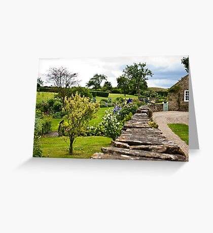 A Country Garden Greeting Card
