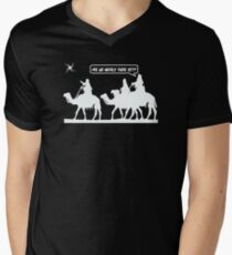 Are We Nearly There Yet Mens V-Neck T-Shirt