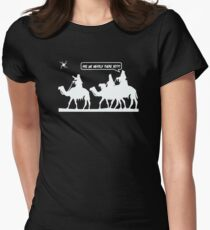Are We Nearly There Yet Womens Fitted T-Shirt