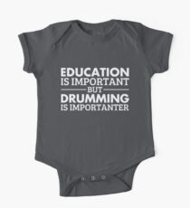 Drumming is Importanter!  Kids Clothes