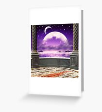 View on a moon from a balcony 2 Greeting Card