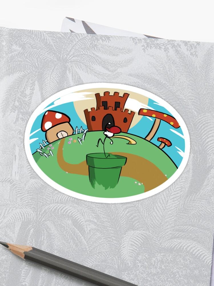 Super Mario Mushroom Kingdom Sticker