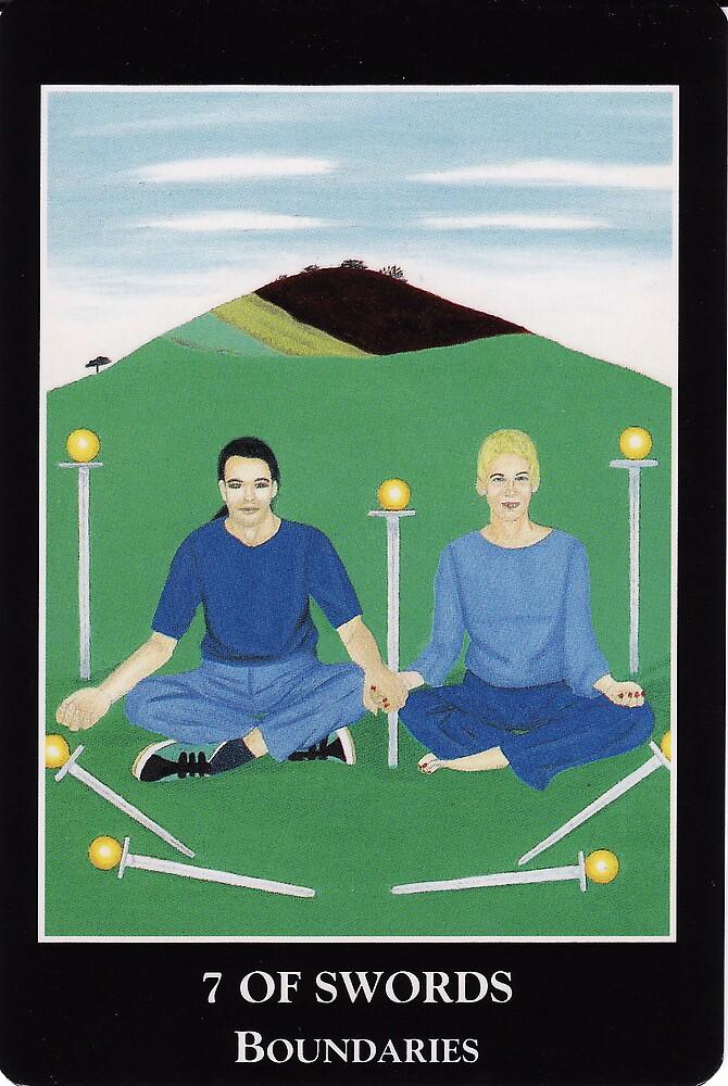 7 of Swords - Boundaries by Lisa Tenzin-Dolma