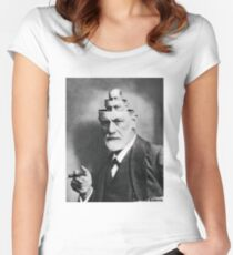 The mind of Freud Women's Fitted Scoop T-Shirt