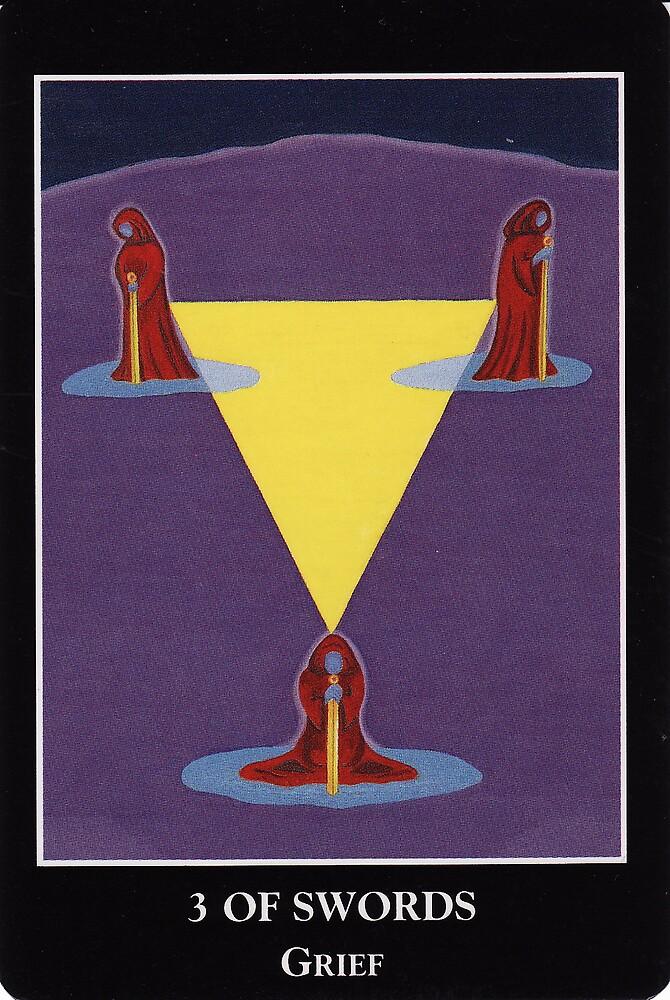 3 of Swords - Grief by Lisa Tenzin-Dolma