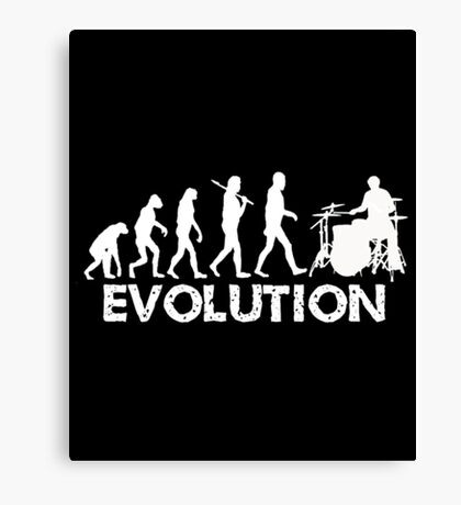 Evolution Of A Drummer Canvas Print