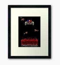 Pixelart Horror Game Scene Framed Print