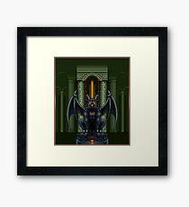 Pixelart Gargoyle Boss Framed Print