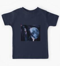 Woman and blue moon Kids Clothes